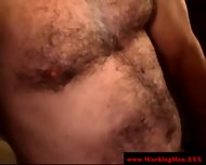 Mature Dilf Straight Gives Friend Facial - scene 1