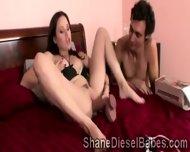 Slutty Brunette Milf Wanna Try A Huge Black Schlong - scene 7