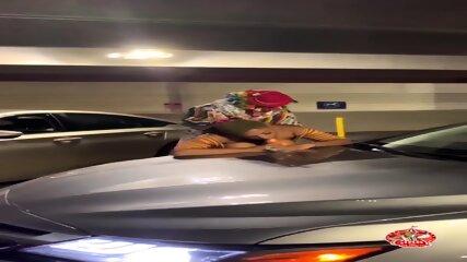 We had fun in the parking garage
