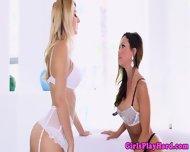 Romantic Lesbian Goddeses In Lingerie - scene 1