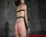 Restrained Sub Spanked And Throatfucked - scene 3