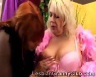 Redhead Cougars Sucks Her Old Girlfriend Big Beautiful Boobs
