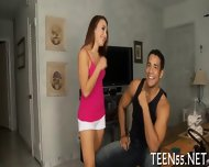 Cute Teen Rudely Used & Fucked - scene 3