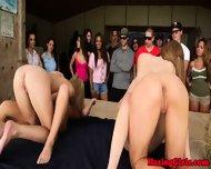 Hazed Lesbos Enjoying Public Pussylick - scene 5