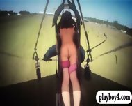 Badass Babes Hang Gliding And Snowboarding While All Naked - scene 10
