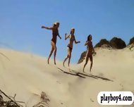 Badass Babes Hang Gliding And Snowboarding While All Naked - scene 7
