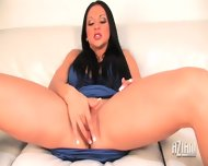 Audrey Bitoni Fingers Her Soft Smooth Pussy Until She Cums - scene 2