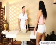 Sexy Brunette Babe Banged And Jizzed By Her Masseur Stepdad - scene 1