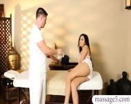 Sexy Brunette Babe Banged And Jizzed By Her Masseur Stepdad - scene 3