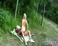 Wild Cowgirl Riding At The Fields - scene 1