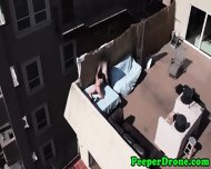 Drone Films Rooftop Sex - scene 5