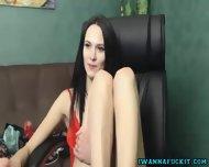 Skinny Petite Girl Masturbates - scene 10