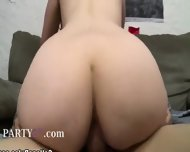 19yo Beauty Enjoying Hard Cock On College - scene 12