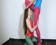 Hairy Lesbians In Nylon Stocking Loving - scene 5