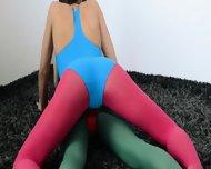 Hairy Lesbians In Nylon Pants Fucking - scene 3
