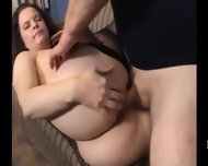 Curly Prety Darkhair And Wild Ride - scene 12