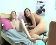 Incredible Threesome Penetrate On Bed - scene 10