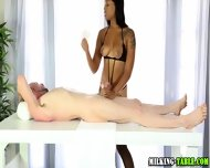 Masseuse Babe Creamed - scene 6