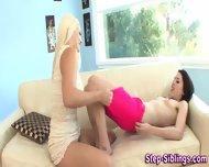 Teen Eats Stepsis Pussy - scene 12