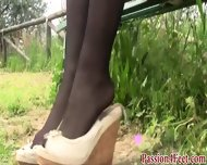 Outdoor Babe In Stockings - scene 12
