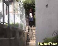 Asian Babe Caught Pissing - scene 12