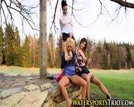 Lesbo Trio Piss Drenching - scene 12