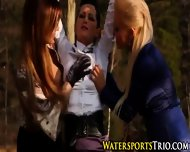 Lesbo Trio Piss Drenching - scene 3