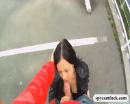 Quickie Fucking On The Stairway Caught On Spycam Glasses - scene 8