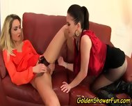 Pissing Lesbo Eaten Out - scene 7