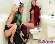 Pissing Ho Gets Babes Wam - scene 6
