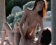 Exotic Schoolgirl Making Love In The Gardens - scene 9