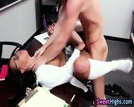 Ebony Teen With Spex Fuck - scene 3