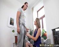 Stockings Milf Swallows - scene 2