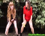 Amateur Lesbians Pissing - scene 1