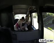 Two Busty Bitches Lesbo Sex In The Taxi While A Cam Turns Ns On Them - scene 8