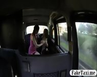Two Busty Bitches Lesbo Sex In The Taxi While A Cam Turns Ns On Them - scene 2