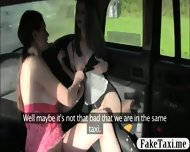 Two Busty Bitches Lesbo Sex In The Taxi While A Cam Turns Ns On Them - scene 4