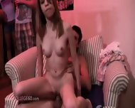 College Groupsex Intercourse At The Party - scene 4