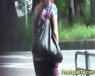 Japanese Hottie Urinates - scene 5