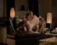 Stunnigly Romantic 3some On A Sofa - scene 4