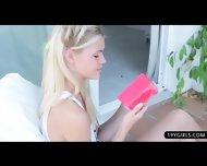 Glamour Blonde Beauty Loves Teasing Her Warm Slot - scene 8