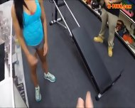Gym Trainer Pawns Her Pussy And Fucked With Horny Pawnkeeper - scene 1