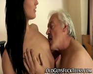 Teen Guzzles Elders Cum - scene 6