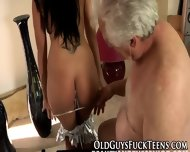 Teen Guzzles Elders Cum - scene 7