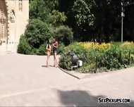 Sexy Teen Kira Queen And Friend Pounded In Public For Money - scene 1