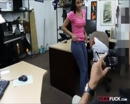 Cute Amateur Girl Pawns Her Pussy And Nailed In The Backroom - scene 2