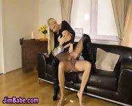 Blonde Wank Teen Cumshot - scene 8