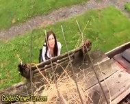 Ho Gets Pissed On In Barn - scene 3