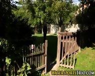 Classy Outdoor Lesbo Piss - scene 1
