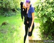 Classy Outdoor Lesbo Piss - scene 3